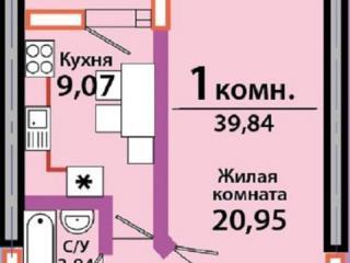 Продажа квартир: 1-комнатная квартира, Краснодар, Красная ул., фото 1