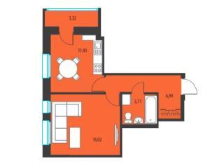 Продажа квартир: 1-комнатная квартира в новостройке, Ижевск, Союзная ул., 133, фото 1