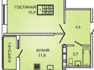 Продажа квартир: 1-комнатная квартира в новостройке, Краснодар, Восточнo-Кругликовская ул., 18, фото 1