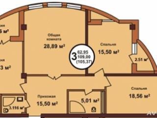 Продажа квартир: 3-комнатная квартира, Краснодар, Ставропольская ул., 207к1, фото 1