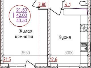 Продажа квартир: 1-комнатная квартира, Краснодар, ул. Мира, фото 1