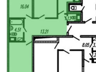 Продажа квартир: 3-комнатная квартира в новостройке, Санкт-Петербург, пр-кт Героев, 27к1, фото 1