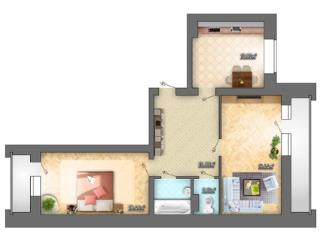 Продажа квартир: 2-комнатная квартира, Воронеж, Ржевская ул., 11, фото 1