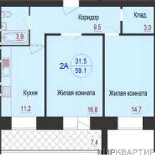 Продам квартиру Волгоград, ул. им Никитина, 125