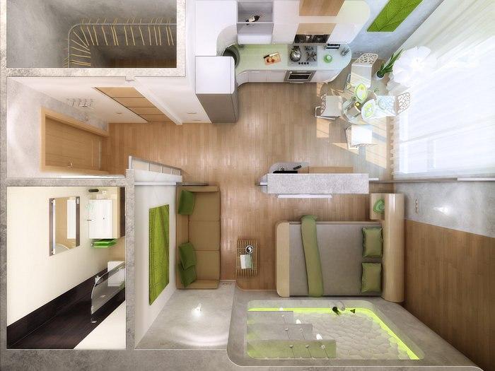 Дизайн проект квартир студий