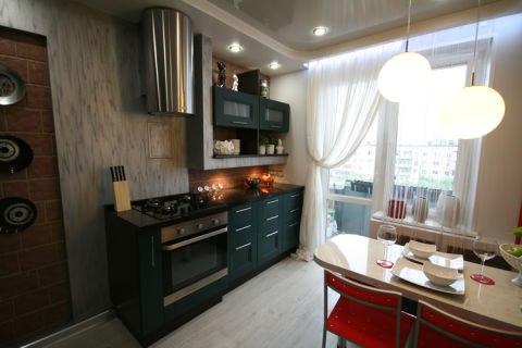 Дизайн кухни 10 кв метров с балконом.