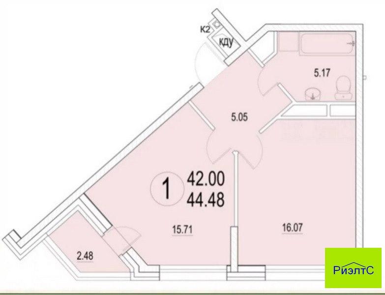 Продается однокомнатная квартира за 3 690 000 рублей. обл Калужская, г Обнинск, ул Долгининская, дом 4.